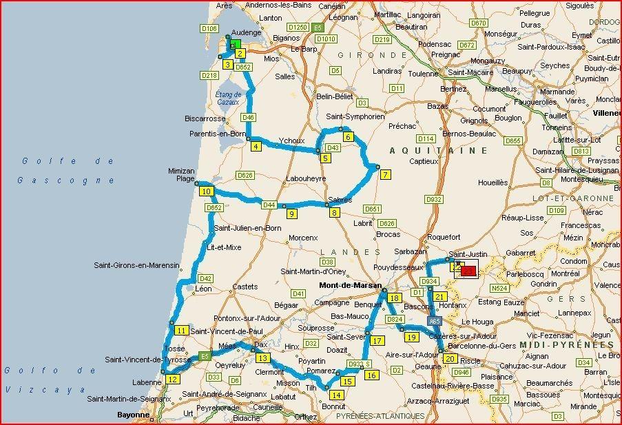 Les Landes, itinéraires, voyages, camping car, aquitaine, landes