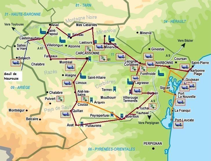Itineraire Visite Aude La Carte