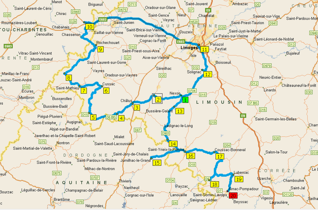 Route Richard Coeur de Lion carte