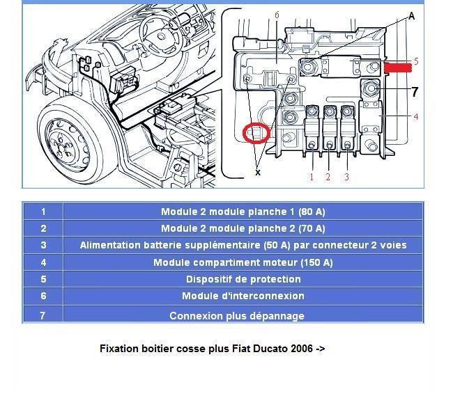 schéma branchement batterie Ducato · Cosse plus ... 2d965069c812