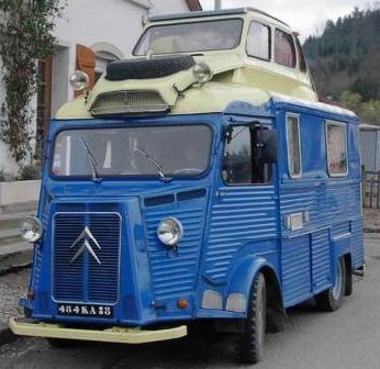 Camping-car insolite citroën